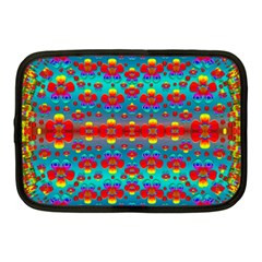 Peace Flowers And Rainbows In The Sky Netbook Case (medium)