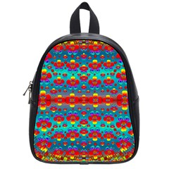 Peace Flowers And Rainbows In The Sky School Bags (small)