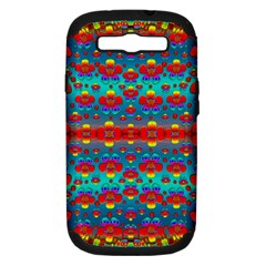 Peace Flowers And Rainbows In The Sky Samsung Galaxy S Iii Hardshell Case (pc+silicone)