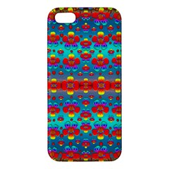 Peace Flowers And Rainbows In The Sky Apple Iphone 5 Premium Hardshell Case