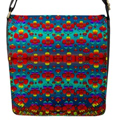 Peace Flowers And Rainbows In The Sky Flap Messenger Bag (s)