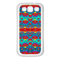 Peace Flowers And Rainbows In The Sky Samsung Galaxy S3 Back Case (white)