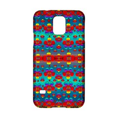 Peace Flowers And Rainbows In The Sky Samsung Galaxy S5 Hardshell Case