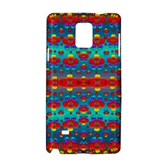 Peace Flowers And Rainbows In The Sky Samsung Galaxy Note 4 Hardshell Case