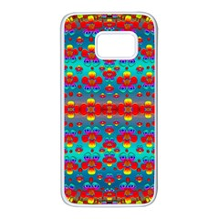Peace Flowers And Rainbows In The Sky Samsung Galaxy S7 White Seamless Case