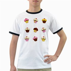 Colorful cupcakes  Ringer T-Shirts