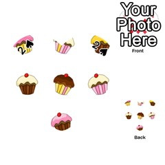 Colorful cupcakes  Playing Cards 54 (Heart)