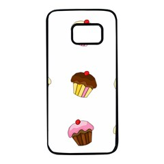 Colorful cupcakes  Samsung Galaxy S7 Black Seamless Case