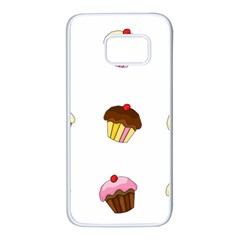 Colorful Cupcakes  Samsung Galaxy S7 White Seamless Case