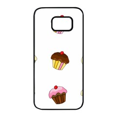 Colorful cupcakes  Samsung Galaxy S7 edge Black Seamless Case