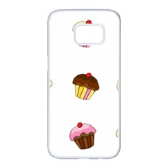 Colorful cupcakes  Samsung Galaxy S7 edge White Seamless Case