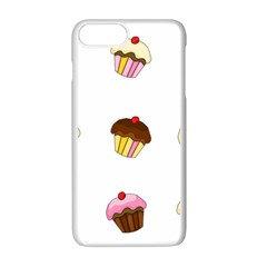 Colorful Cupcakes  Apple Iphone 7 Plus White Seamless Case