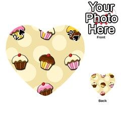 Colorful cupcakes pattern Playing Cards 54 (Heart)