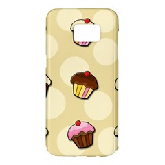 Colorful Cupcakes Pattern Samsung Galaxy S7 Edge Hardshell Case