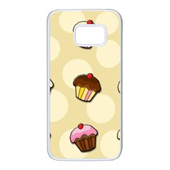 Colorful cupcakes pattern Samsung Galaxy S7 White Seamless Case