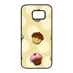 Colorful cupcakes pattern Samsung Galaxy S7 edge Black Seamless Case