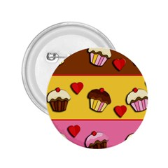 Love Cupcakes 2 25  Buttons