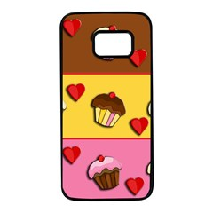 Love cupcakes Samsung Galaxy S7 Black Seamless Case