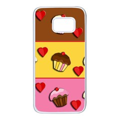 Love cupcakes Samsung Galaxy S7 White Seamless Case
