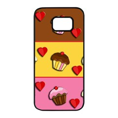 Love cupcakes Samsung Galaxy S7 edge Black Seamless Case