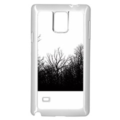 The dark mist Samsung Galaxy Note 4 Case (White)
