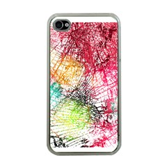 Colorful abstract  Apple iPhone 4 Case (Clear)
