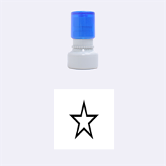 Star Rubber Round Stamps (small)