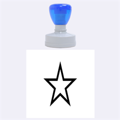 Star Rubber Round Stamps (large)
