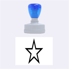 Star Rubber Oval Stamps