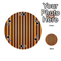 Printable Halloween Paper Playing Cards 54 (round)