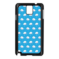 Seamless Fluffy Cloudy And Sky Samsung Galaxy Note 3 N9005 Case (black)