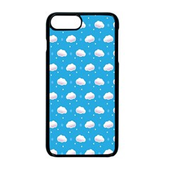 Seamless Fluffy Cloudy And Sky Apple Iphone 7 Plus Seamless Case (black)