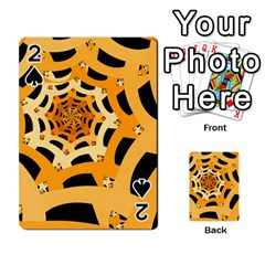 Spider Helloween Yellow Playing Cards 54 Designs