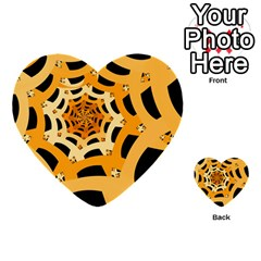 Spider Helloween Yellow Multi Purpose Cards (heart)