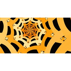 Spider Helloween Yellow You Are Invited 3d Greeting Card (8x4)