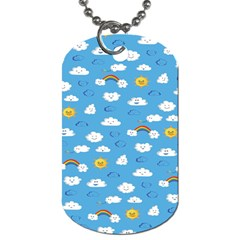 White Clouds Dog Tag (one Side)
