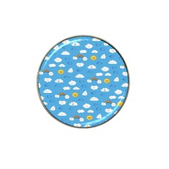 White Clouds Hat Clip Ball Marker (10 Pack)