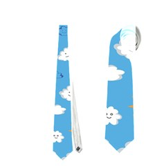 White Clouds Neckties (two Side)