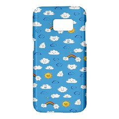 White Clouds Samsung Galaxy S7 Hardshell Case