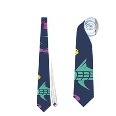 Twiddy Tropical Fish Pattern Neckties (one Side)