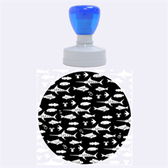 Twiddy Tropical Fish Pattern Rubber Round Stamps (large)
