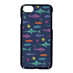 Twiddy Tropical Fish Pattern Apple Iphone 7 Seamless Case (black)