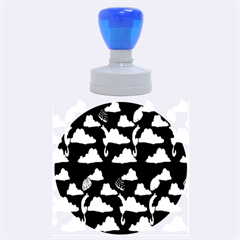 Foxfabricsmall Weasel Rubber Round Stamps (large)