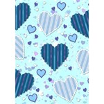 Light and Dark Blue Hearts Apple 3D Greeting Card (7x5) Inside