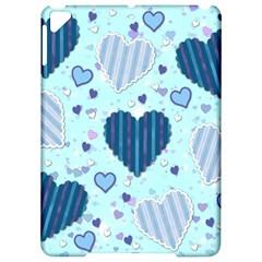 Light And Dark Blue Hearts Apple Ipad Pro 9 7   Hardshell Case