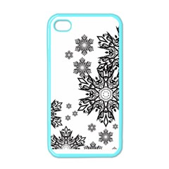 Beautiful Black and white snowflakes  Apple iPhone 4 Case (Color)