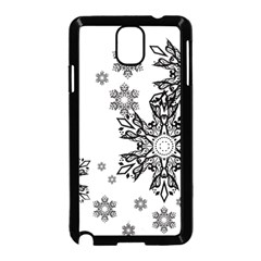 Beautiful black and white snowflakes Samsung Galaxy Note 3 Neo Hardshell Case (Black)