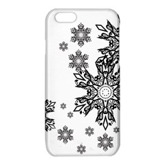 Beautiful black and white snowflakes iPhone 6/6S TPU Case