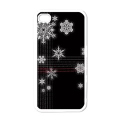 Shining Snowflakes Apple iPhone 4 Case (White)