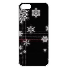 Shining Snowflakes Apple iPhone 5 Seamless Case (White)